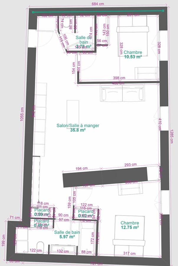 Loue appartement T3Poitiers (86) - 71m²