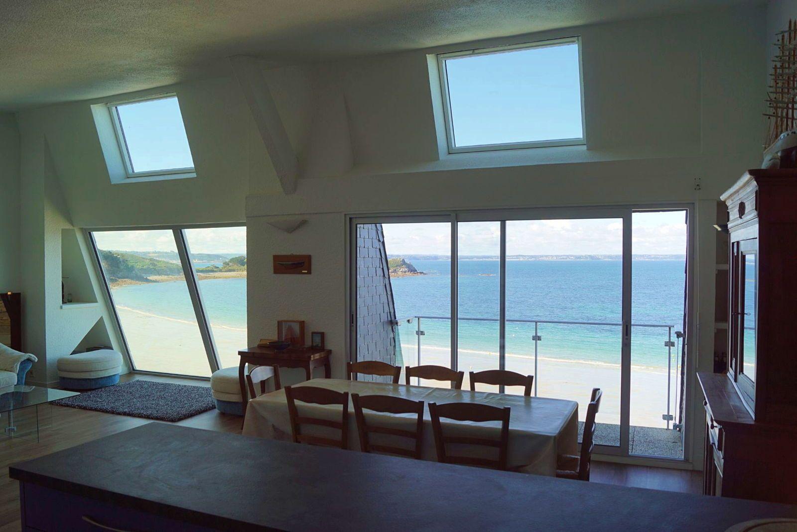 Loue appartement à Trebeurden (22),vue mer exceptionnelle, 8couchages