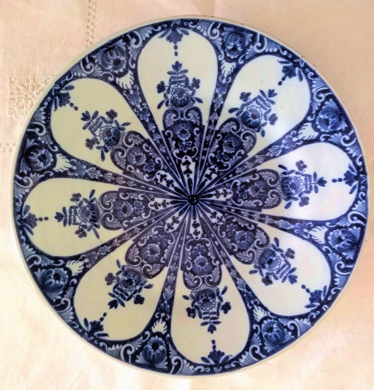 Assiette de Rouen faïence décor en camaïeu bleu XVIII / XIXème