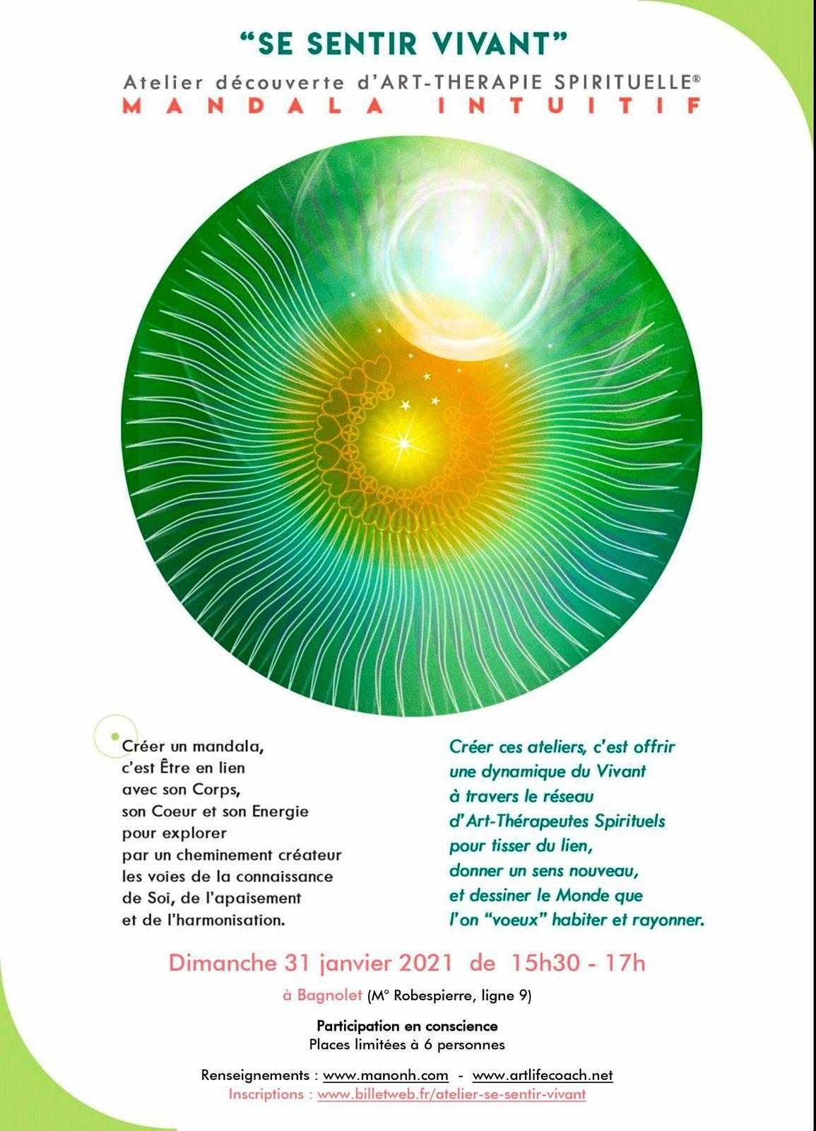 🌿Atelier Découverte Mandala intuitif 🌿 - Art-Thérapie Spirituelle