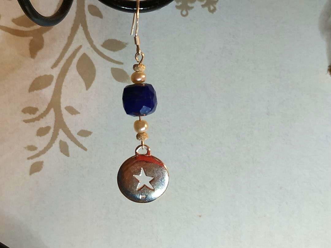 Boucles d'oreilles Lapis-Lazuli et argent crochet ou autre