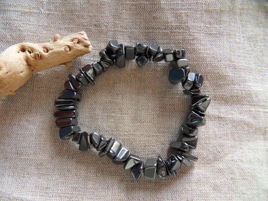 Bracelet chips Hématite