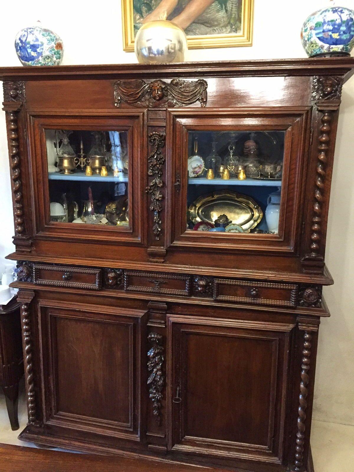 Buffet style Louis XIII - angelots et bois tournés