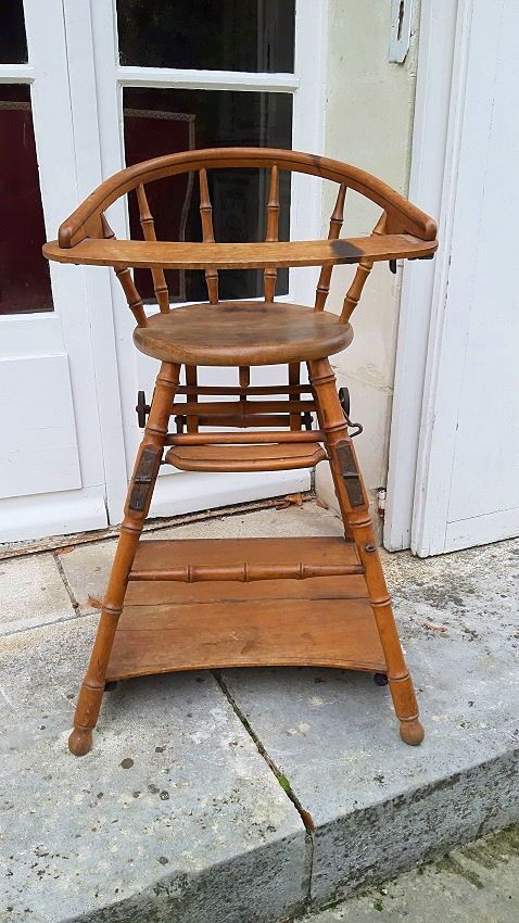 Chaise bébé escamotable début XXème