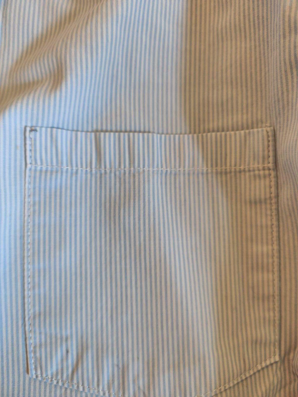Chemise rayée bleue Cyrillus 12A
