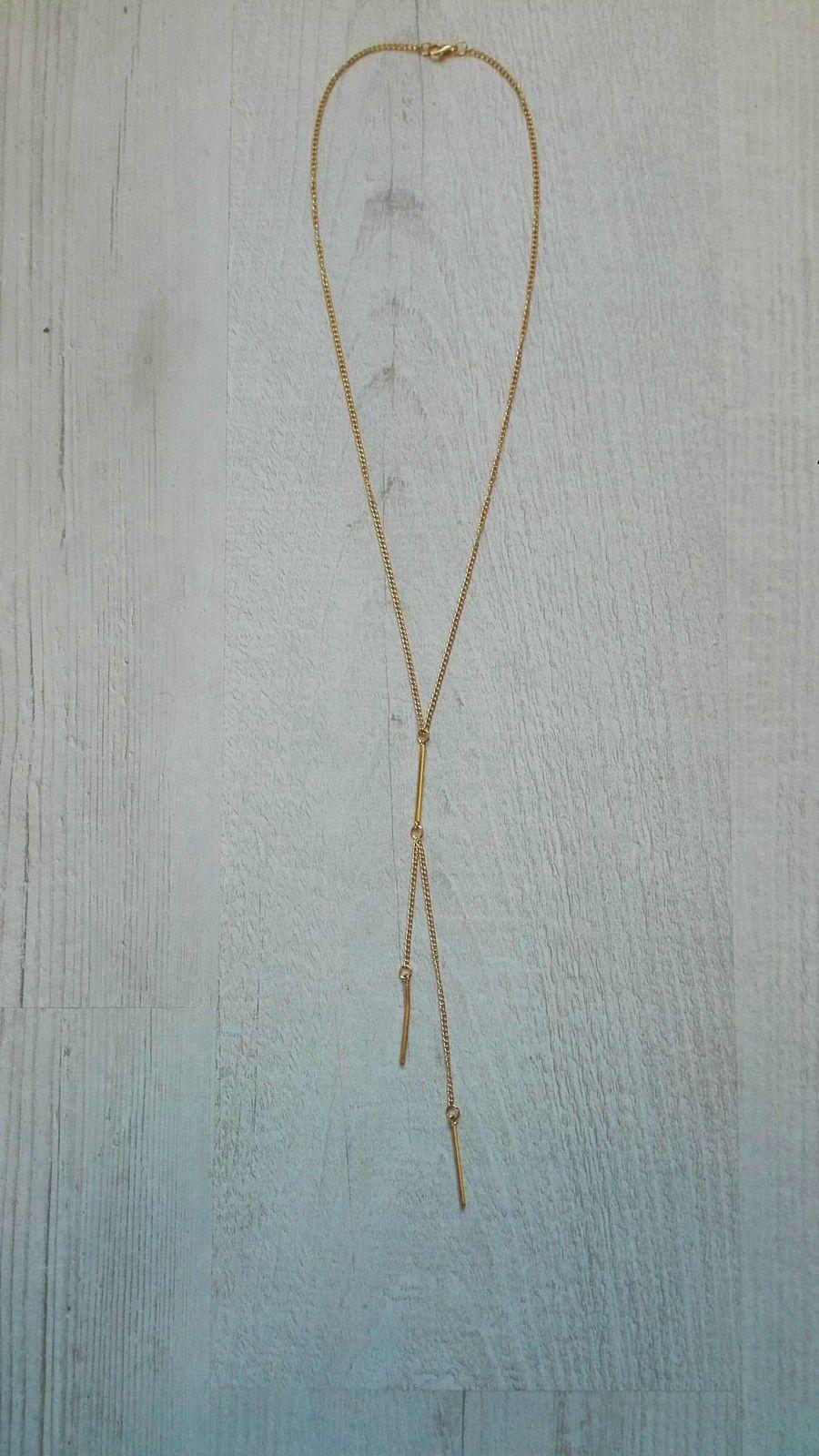 Collier minimaliste doré