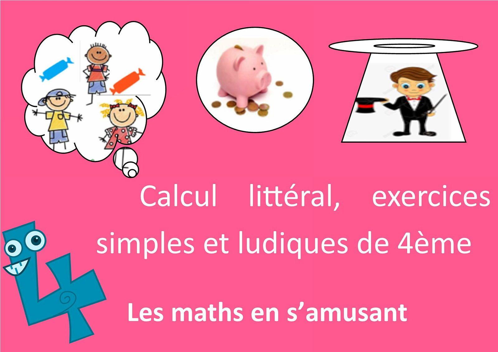 Propose 5Cours & 18exercices expliqués/corrigés Maths 4e en ligne
