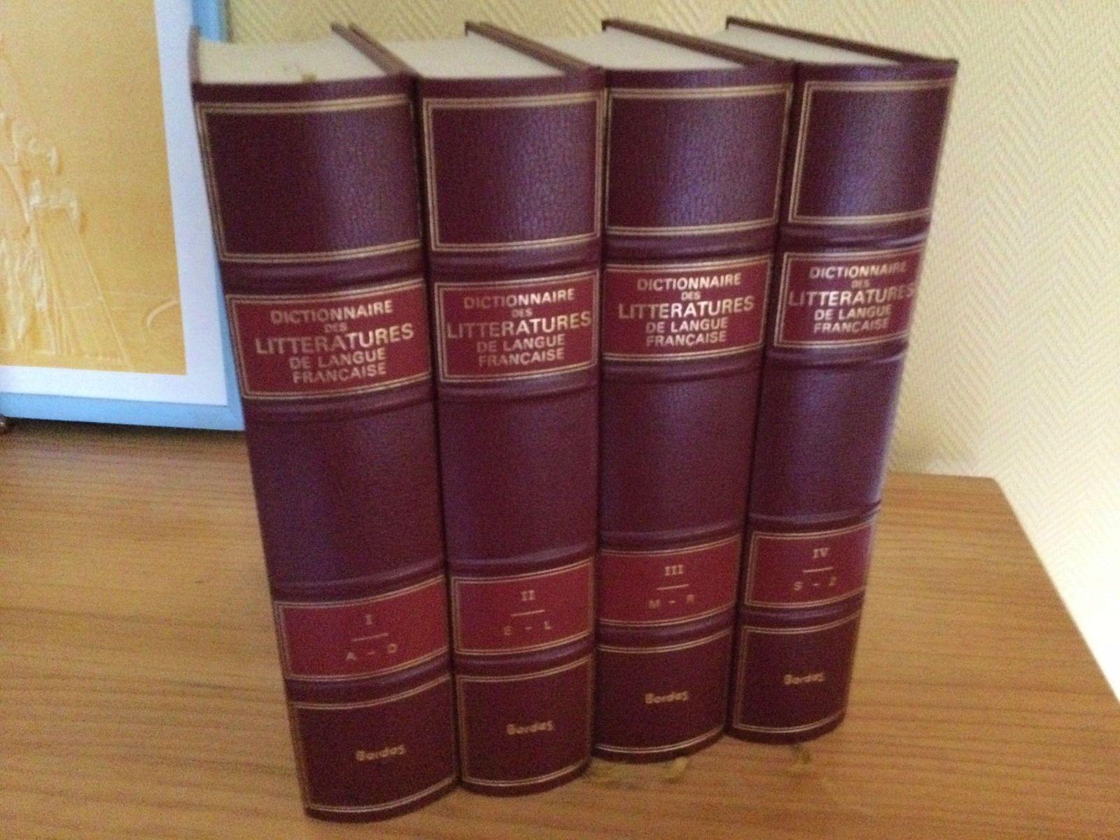 Dictionnaire des littératures de langue française 4volumes