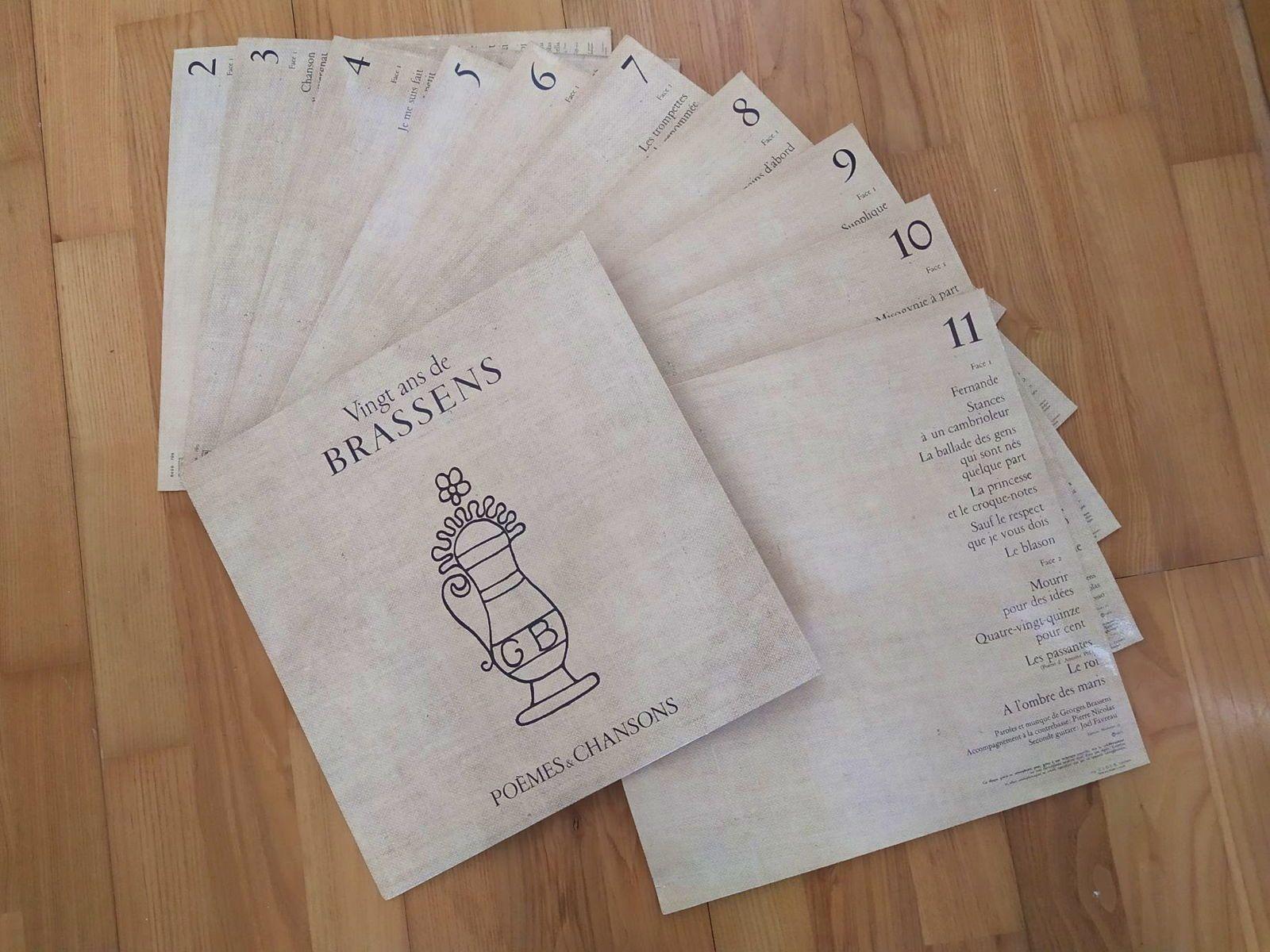 11disques vinyles Georges Brassens+ livre