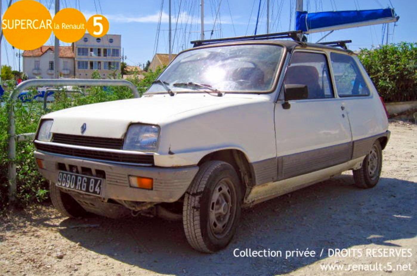 Donne Renault 5(1983) Automatique couleur blanche