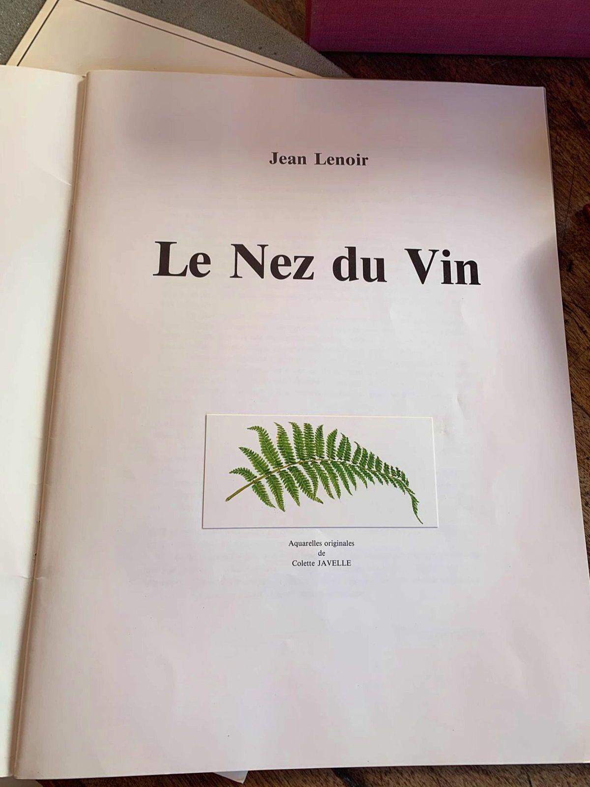 Nez du vin Edition originale de Jean Lenoir 1981