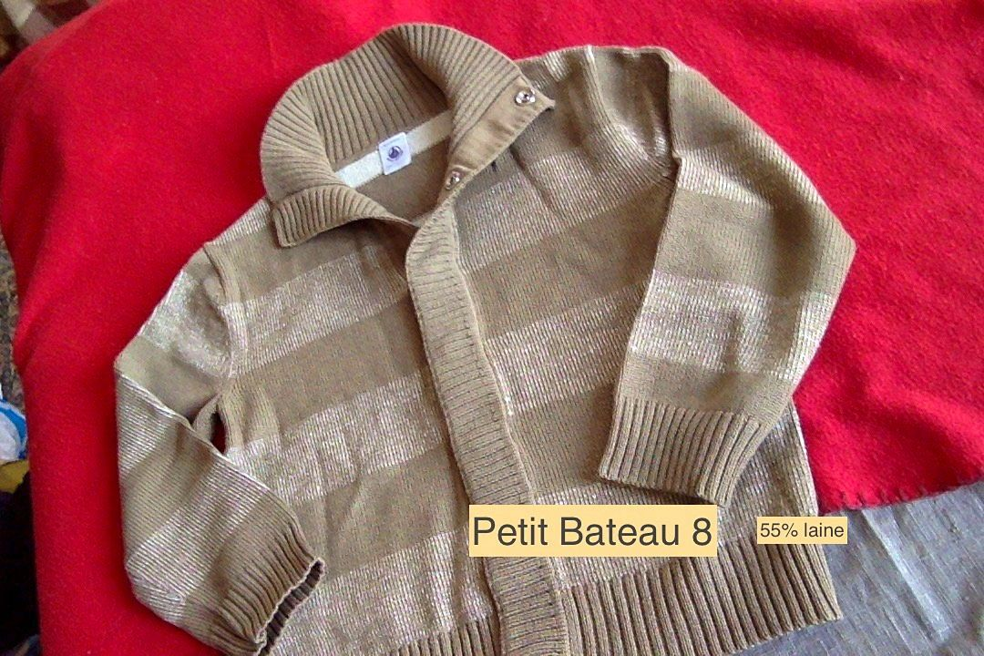 Gilet Petit Bateau garçon 8ans