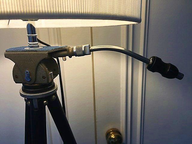 Grand lampadaire créés/ancien trépied photo (5)