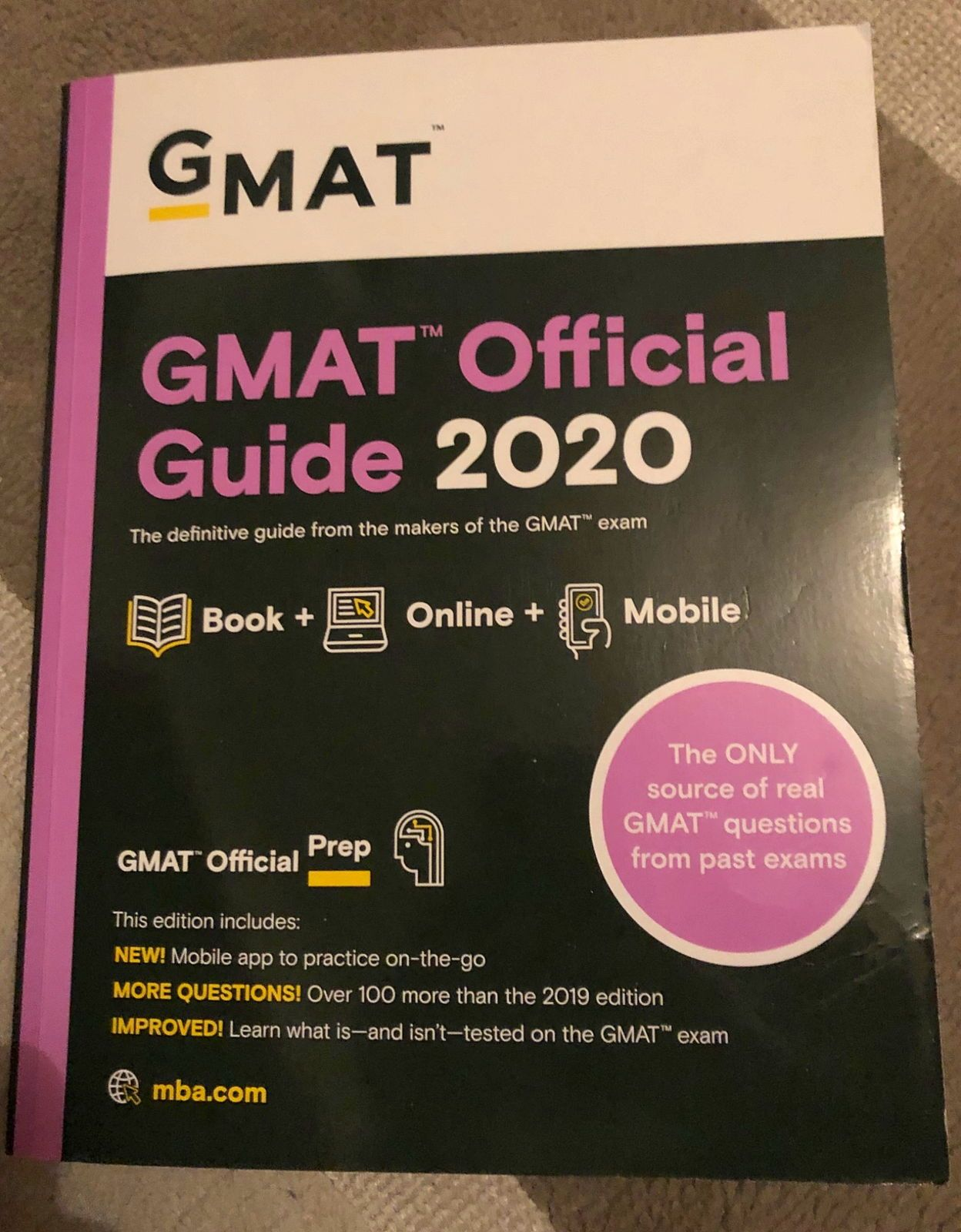 GMAT guide officiel 2020  (neuf)