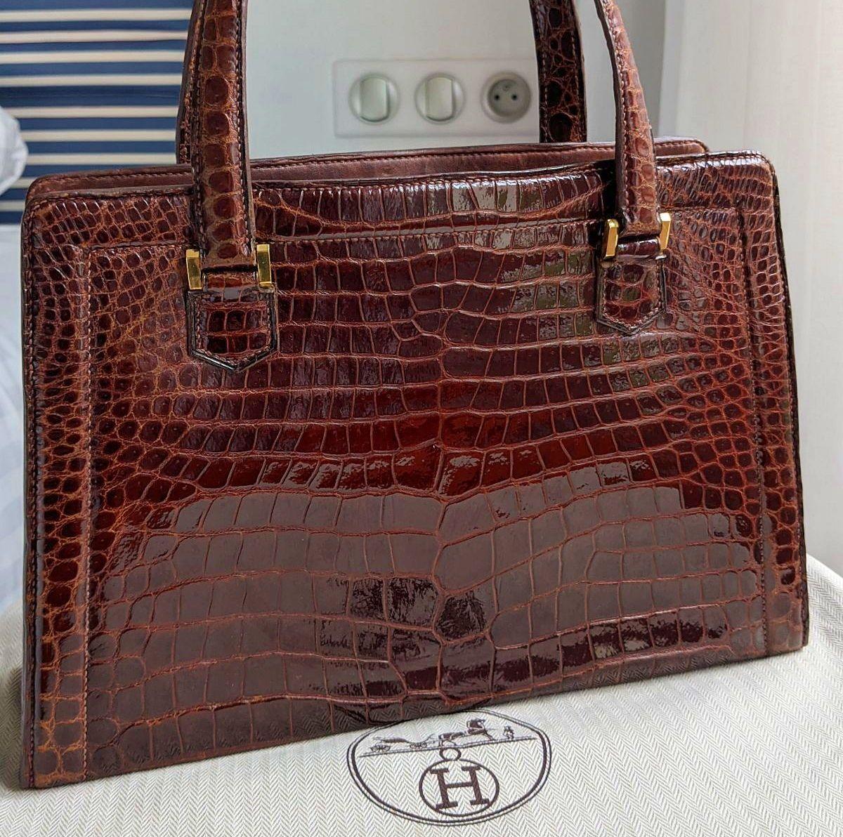 Hermès, sac Pullman, crocodile