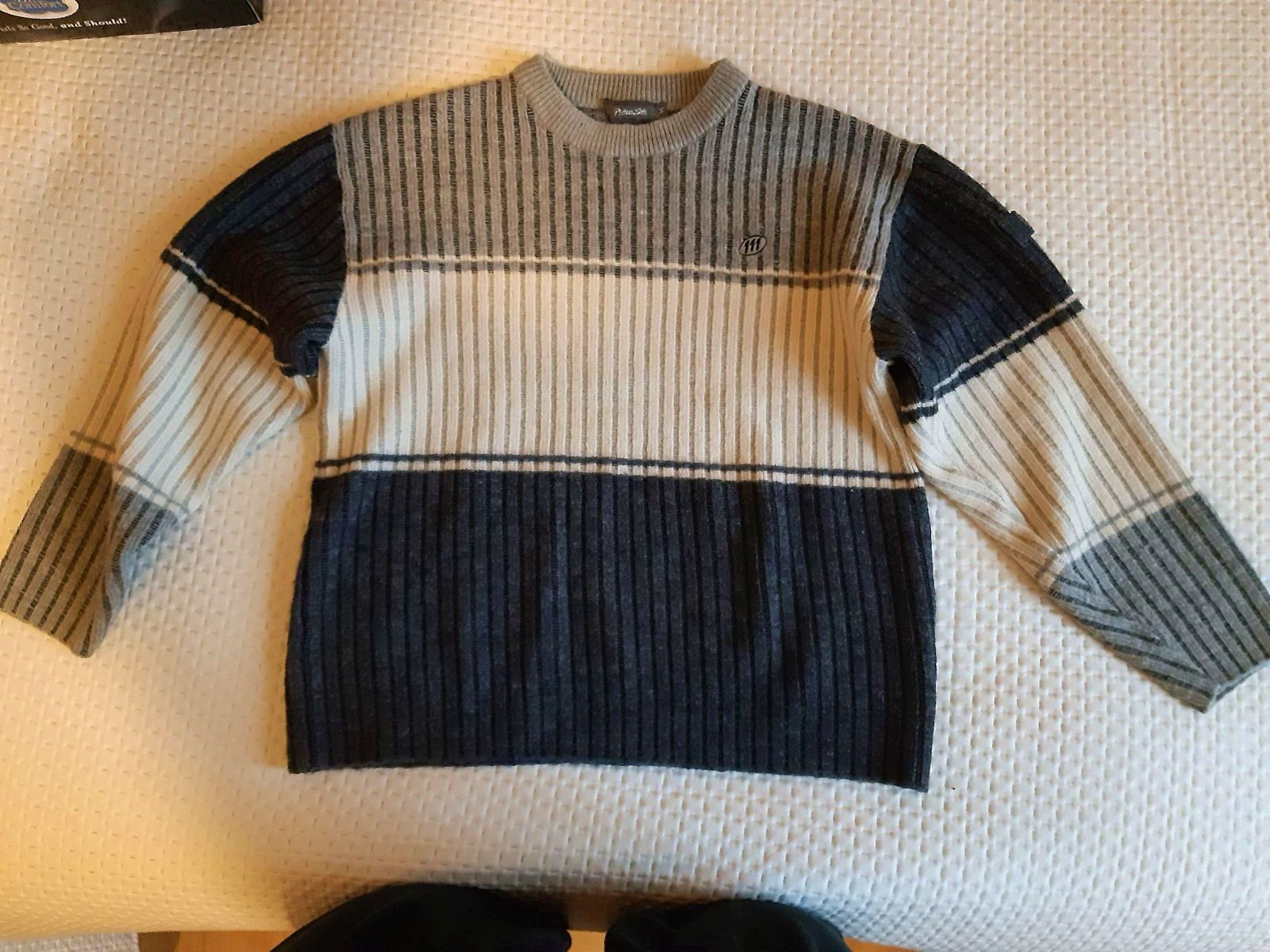 "Pull homme hiver ""Philippe Sella 111"" taille M gris et beige"