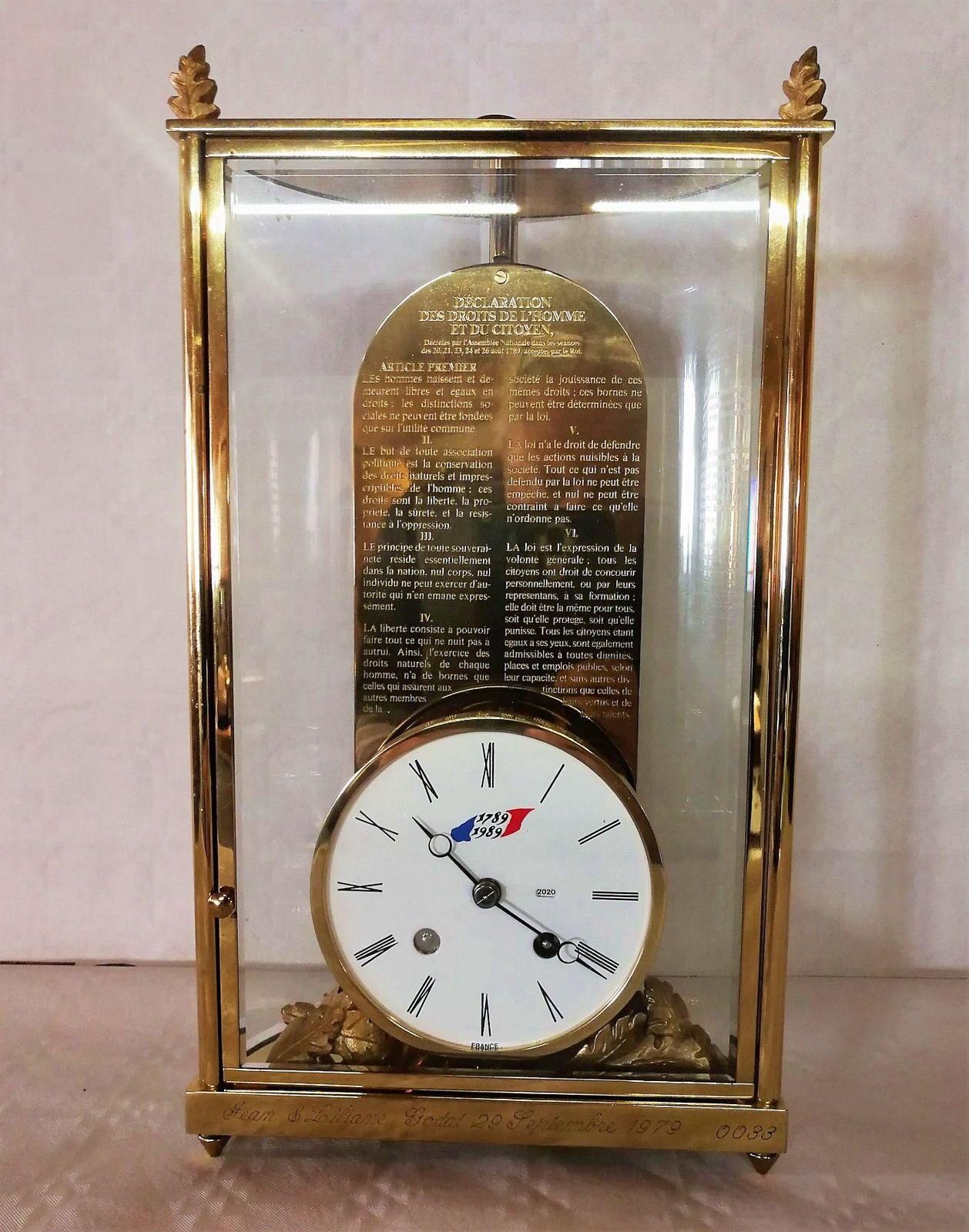 Horloge de Luxe l'Epée, bicentenaire de la révolution, numérotée