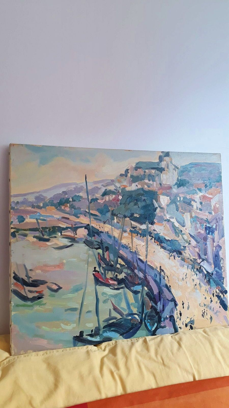 Huile sur toile Charles Malle
