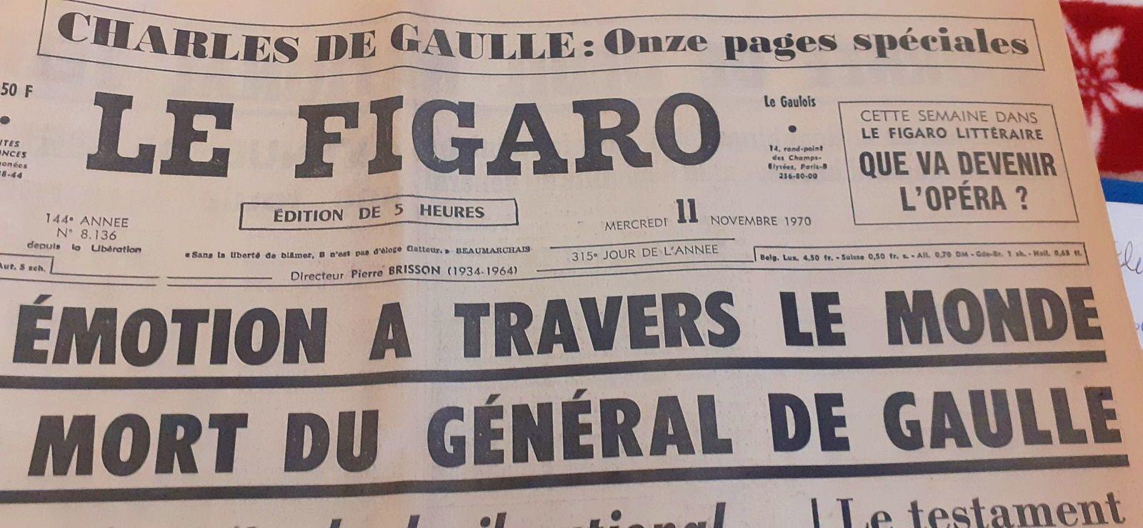Journaux du 11Novembre 1970