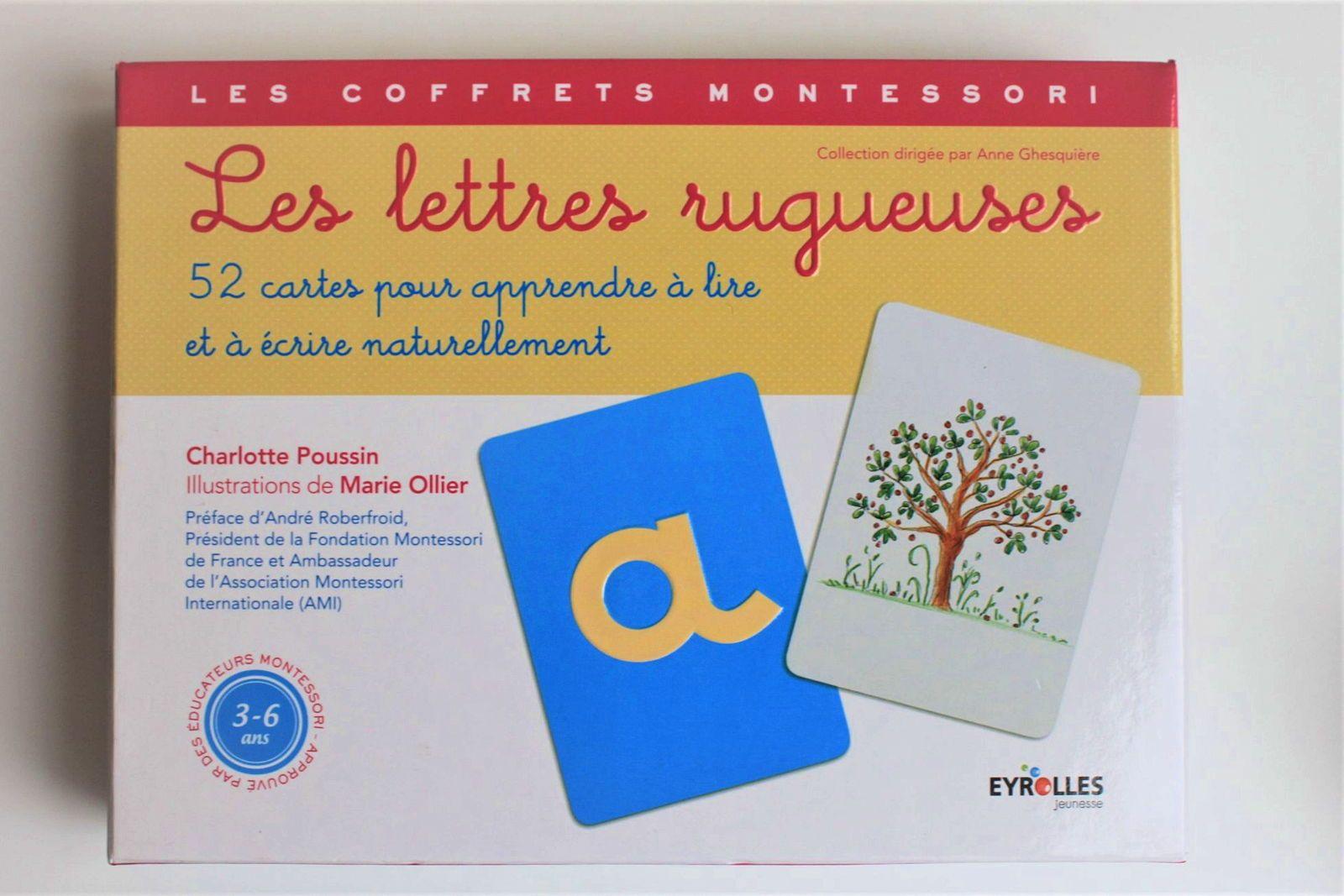Les lettres rugueuses - Coffret Montessori - En très bon état