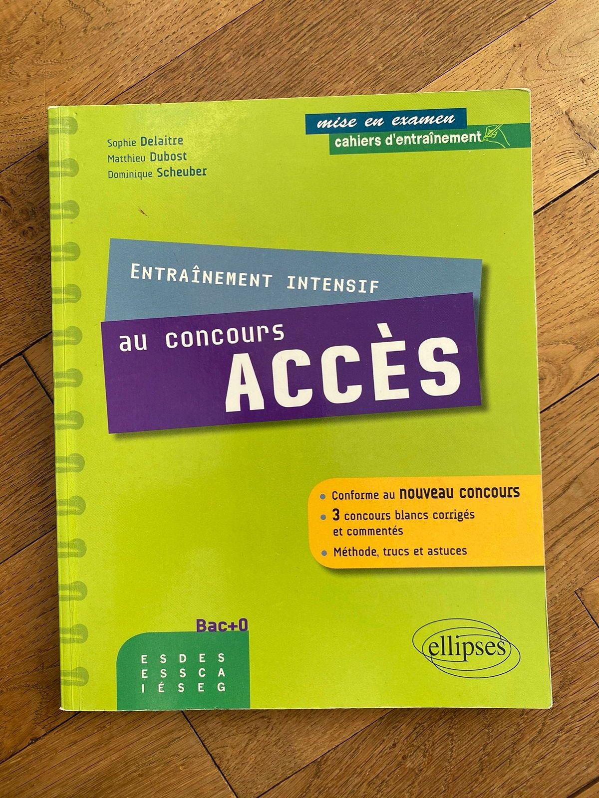 Livre de préparation au concours Accès