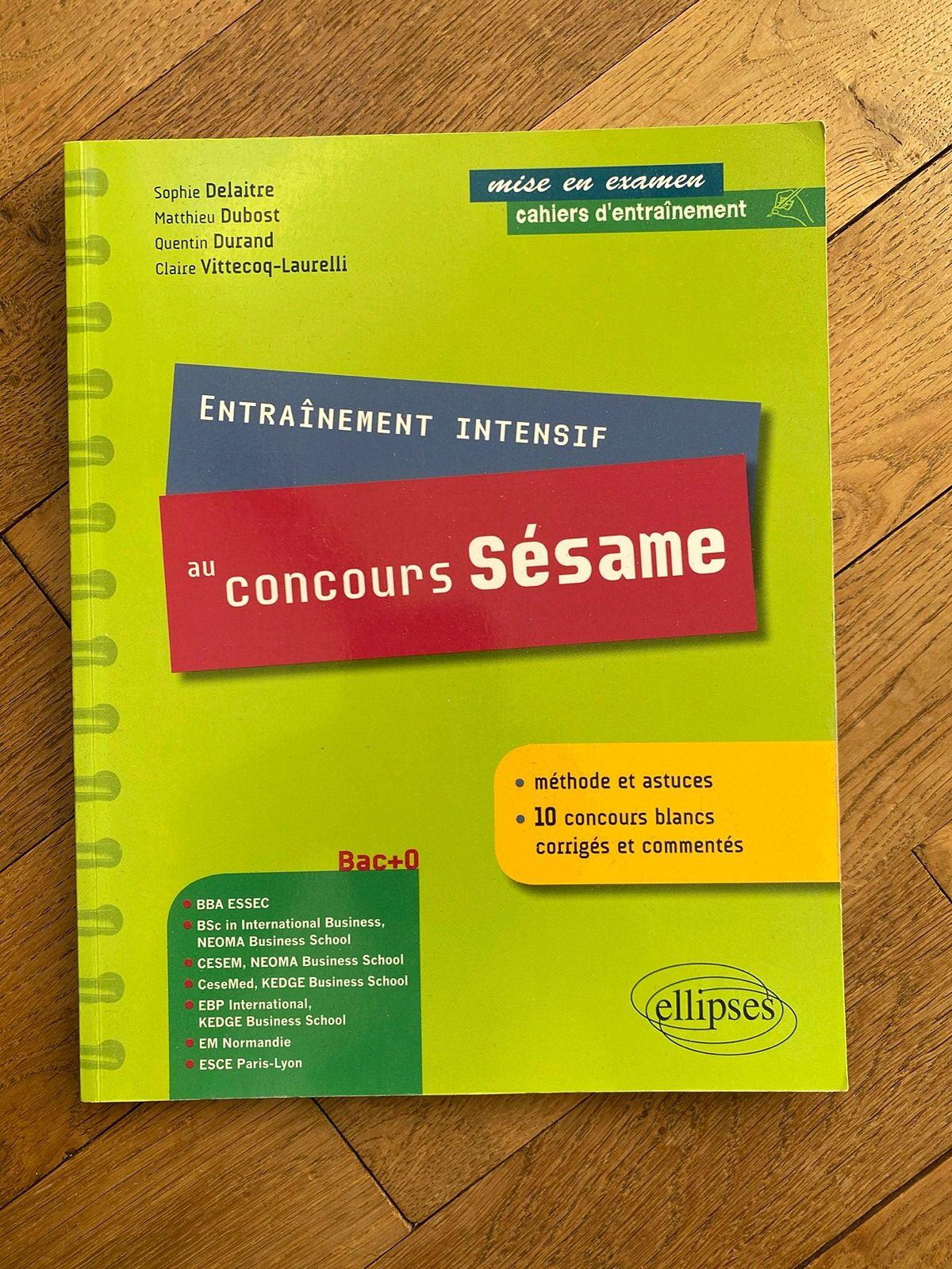 Livre de préparation au concours Sésame