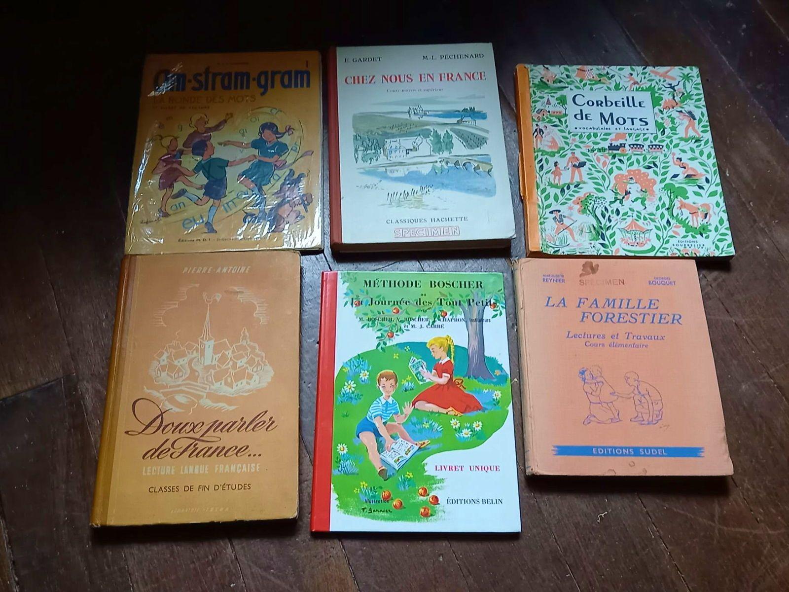 6Livres apprentissage lecture, dont Chez nous en France