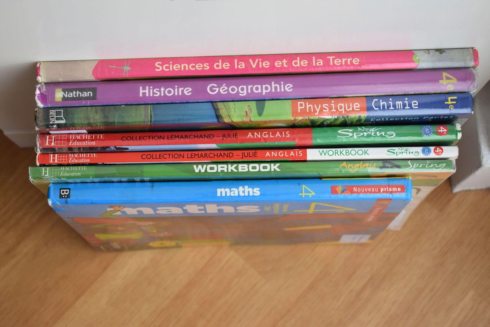 Livres scolaires de 4ème
