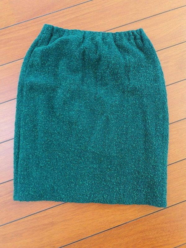 Jupe maille vert bouteille 38/40