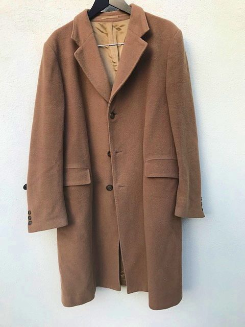 Manteau homme long camel 52