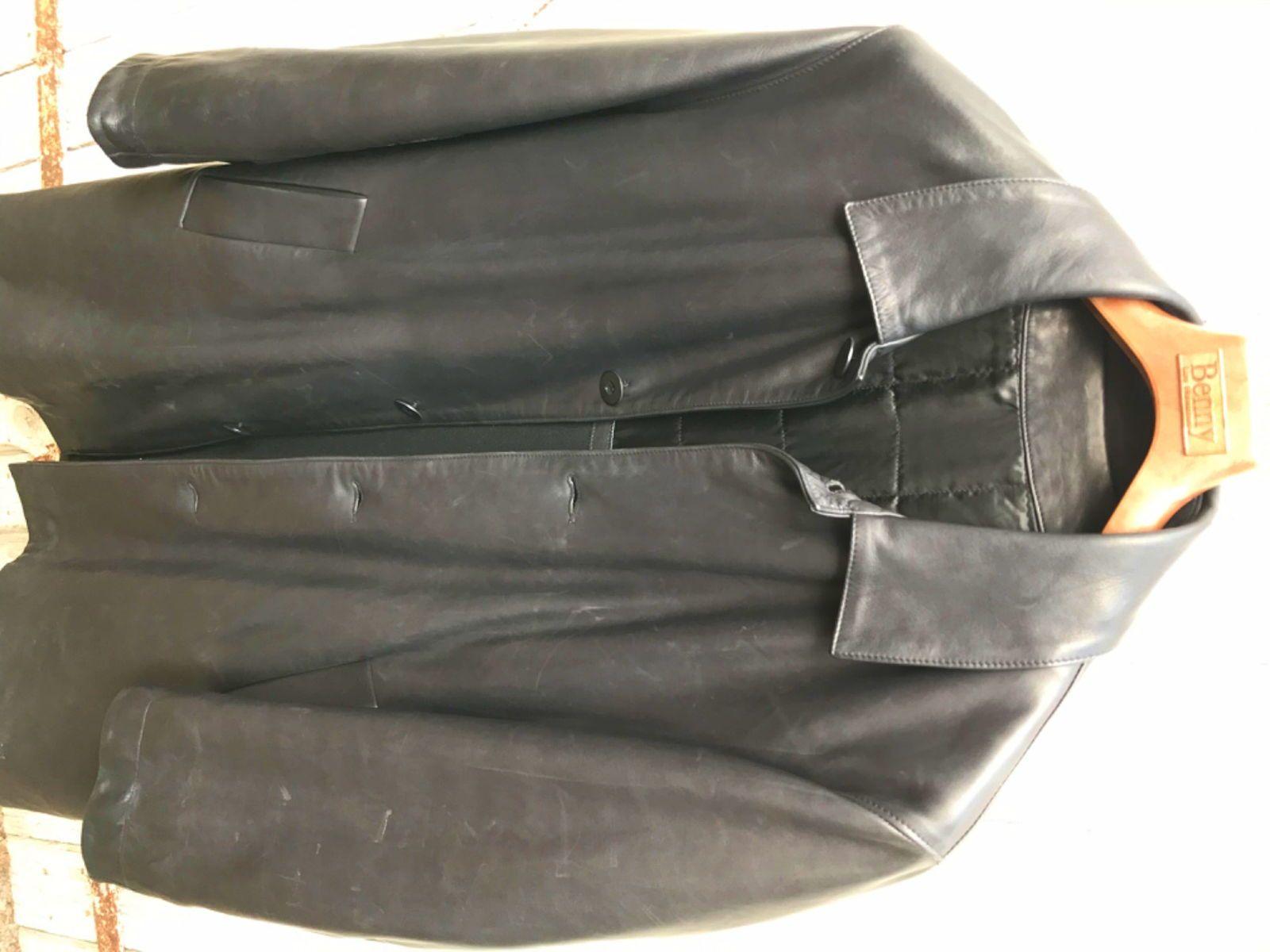 Manteau cuir noir taille 50