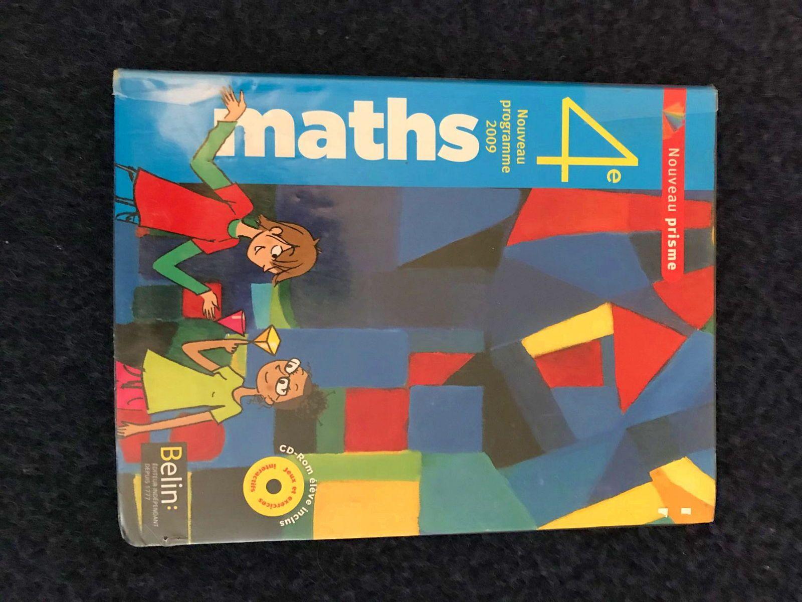 Manuel de l'élève maths 4ème
