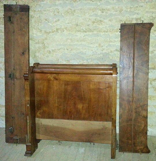 Très beau lit bois massif style 1900: 90cm