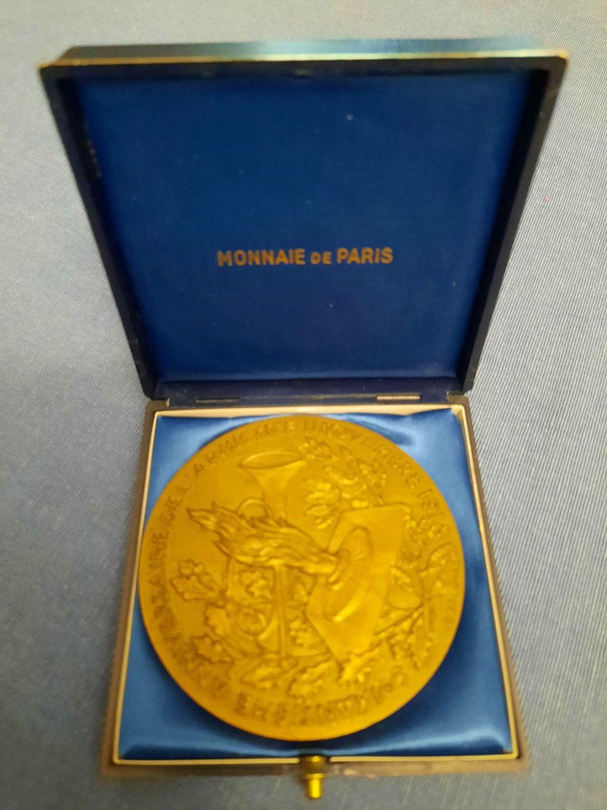 Médaille bronze 60è anniversaire de l'armistice du 11novembre 1918