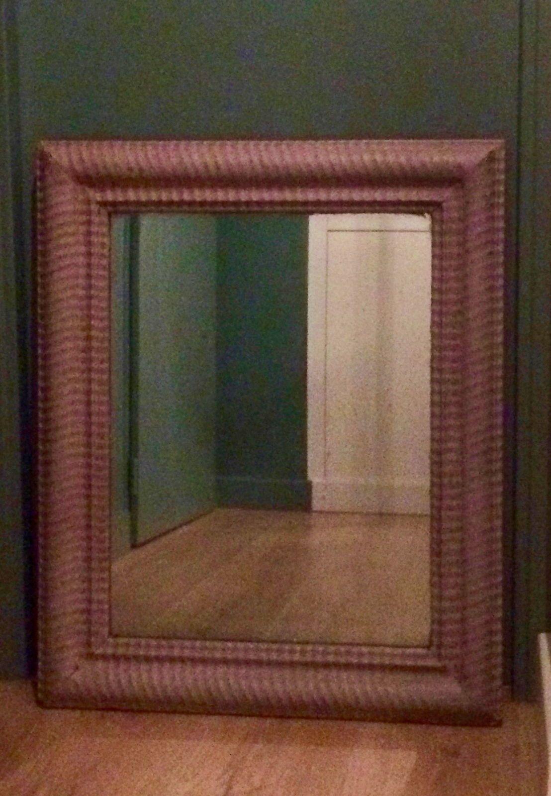 Miroir ancien peint