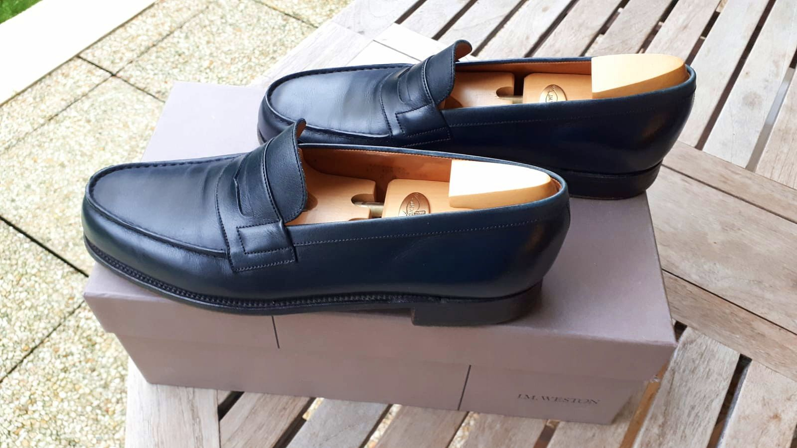 Mocassins WESTON bleus - Pointure 43