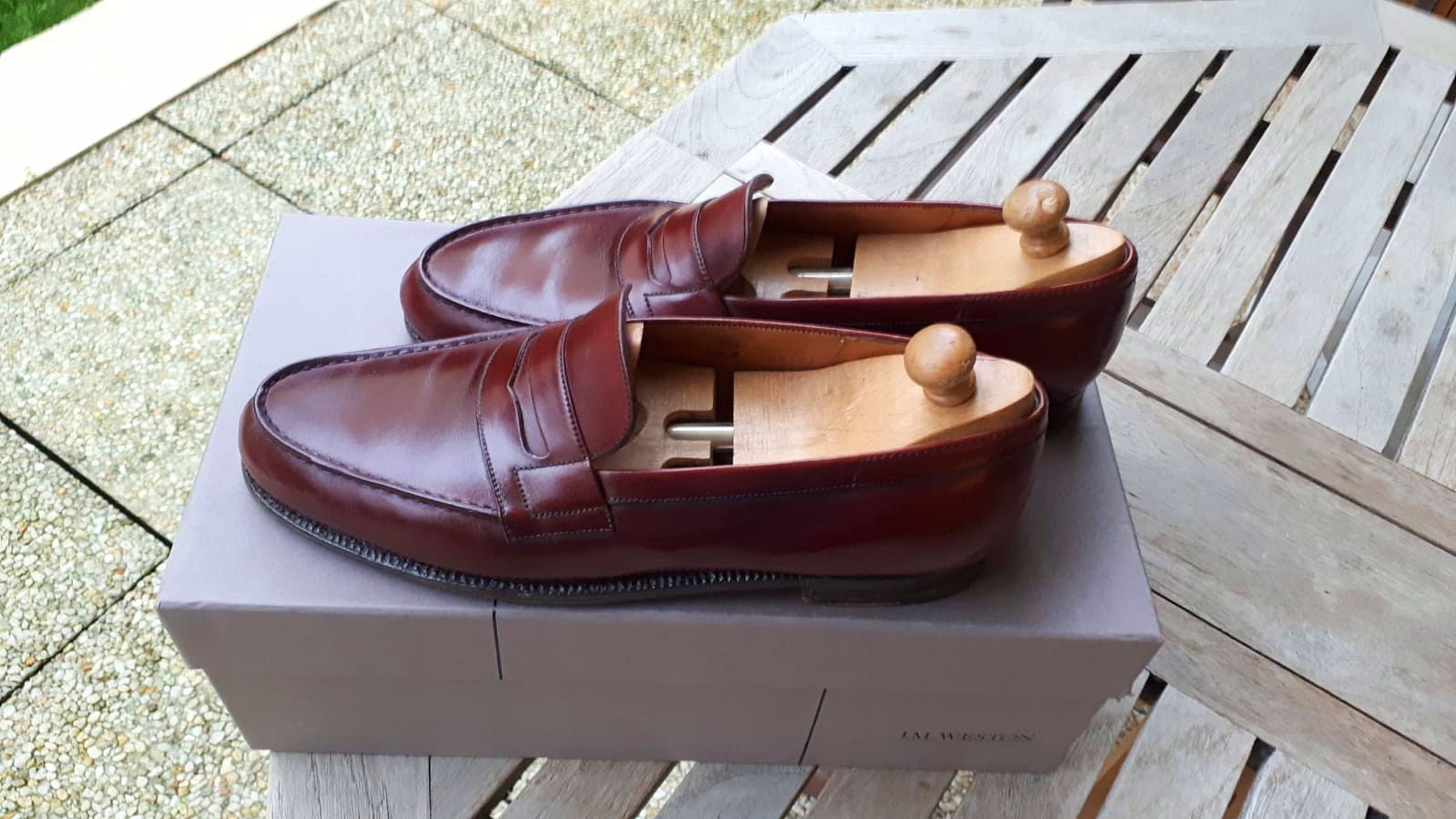 Mocassins WESTON bordeaux - Pointure 43