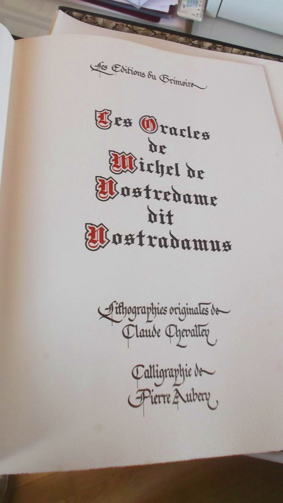 Nostradamus édition de luxe