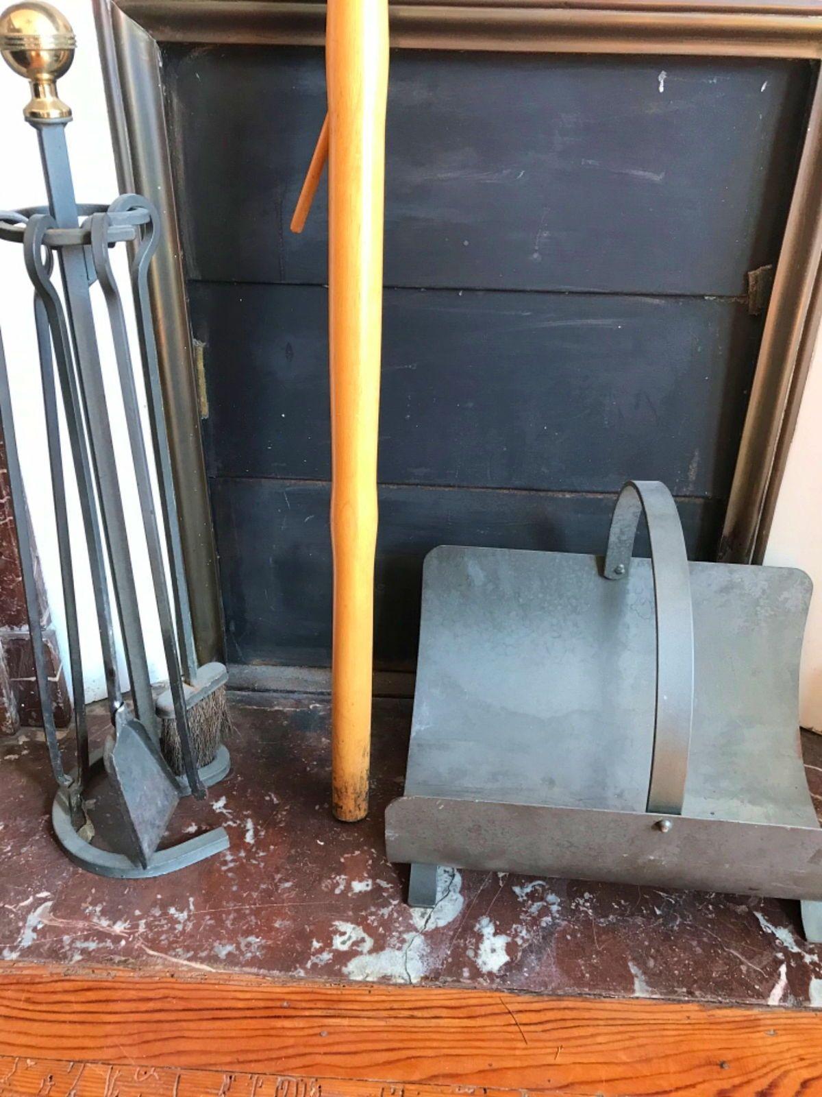 Vends ensemble serviteur complet de cheminée en fer forge