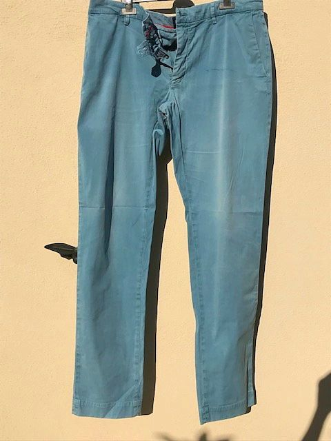 Pantalon chino homme bleu aqua Mason's 48