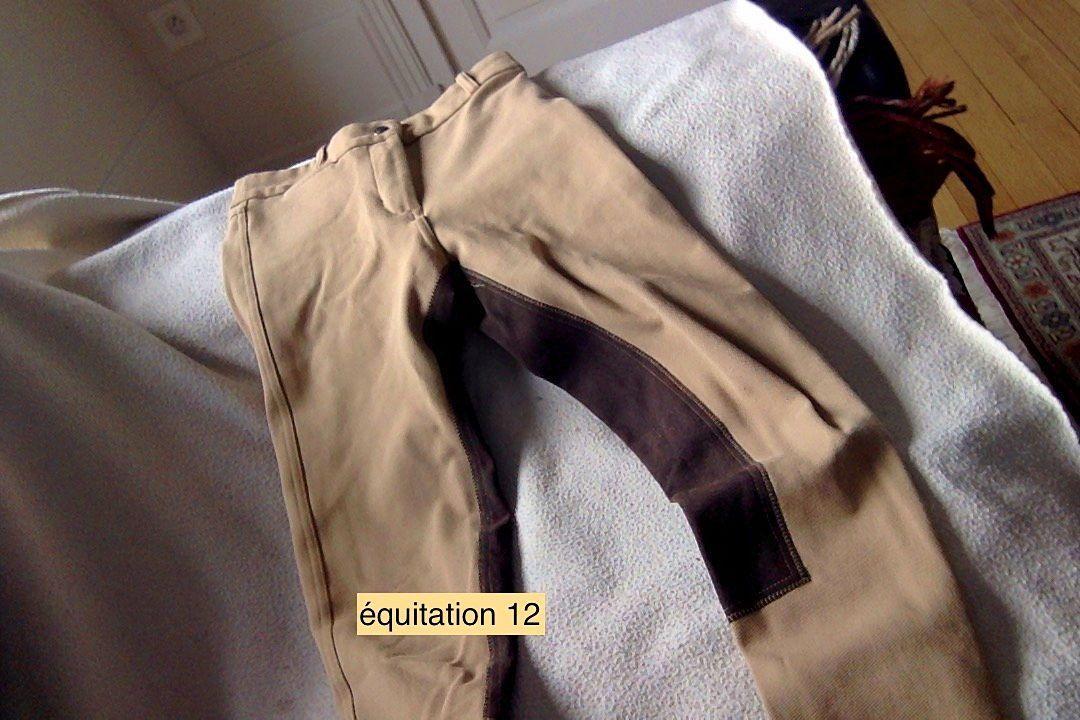 Pantalon d'equitation 12ans + bottines d'equitation 36