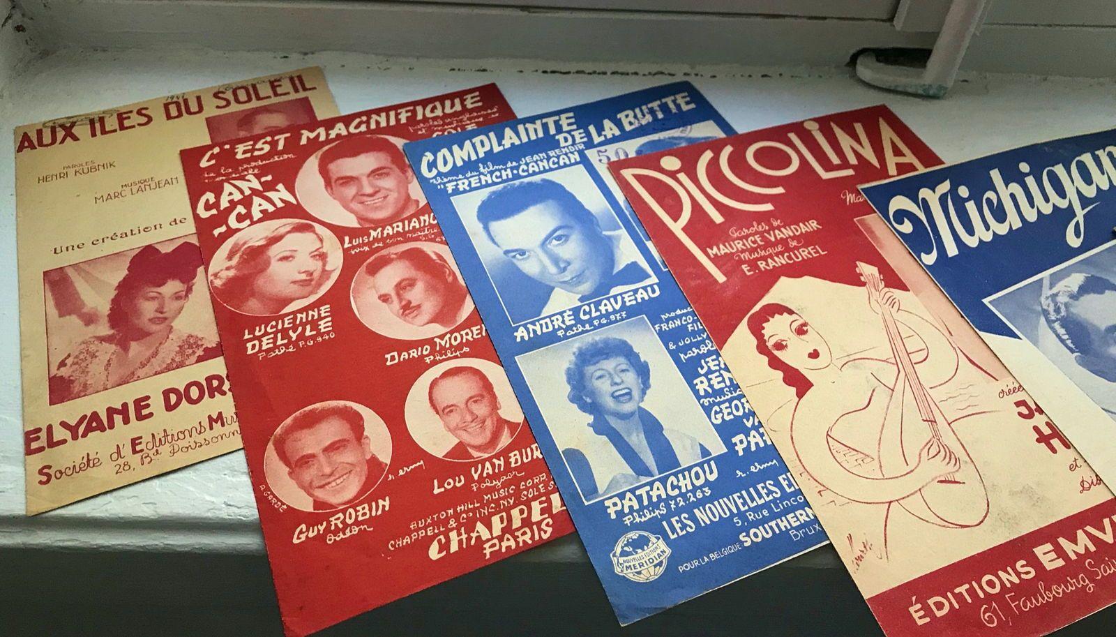 Vends 12partitions anciennes années 30