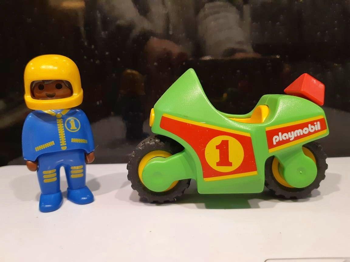 Playmobil 6719- Pilote / moto de course 1.2.3