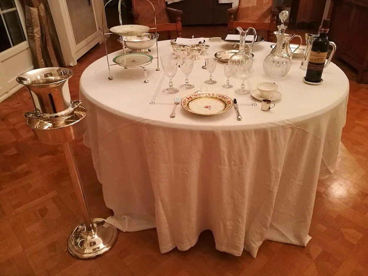 Joli porte-seau à Champagne ou autre vin en métal argenté Ercuis