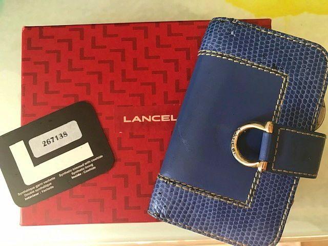 Porte-clé bleu Lancel