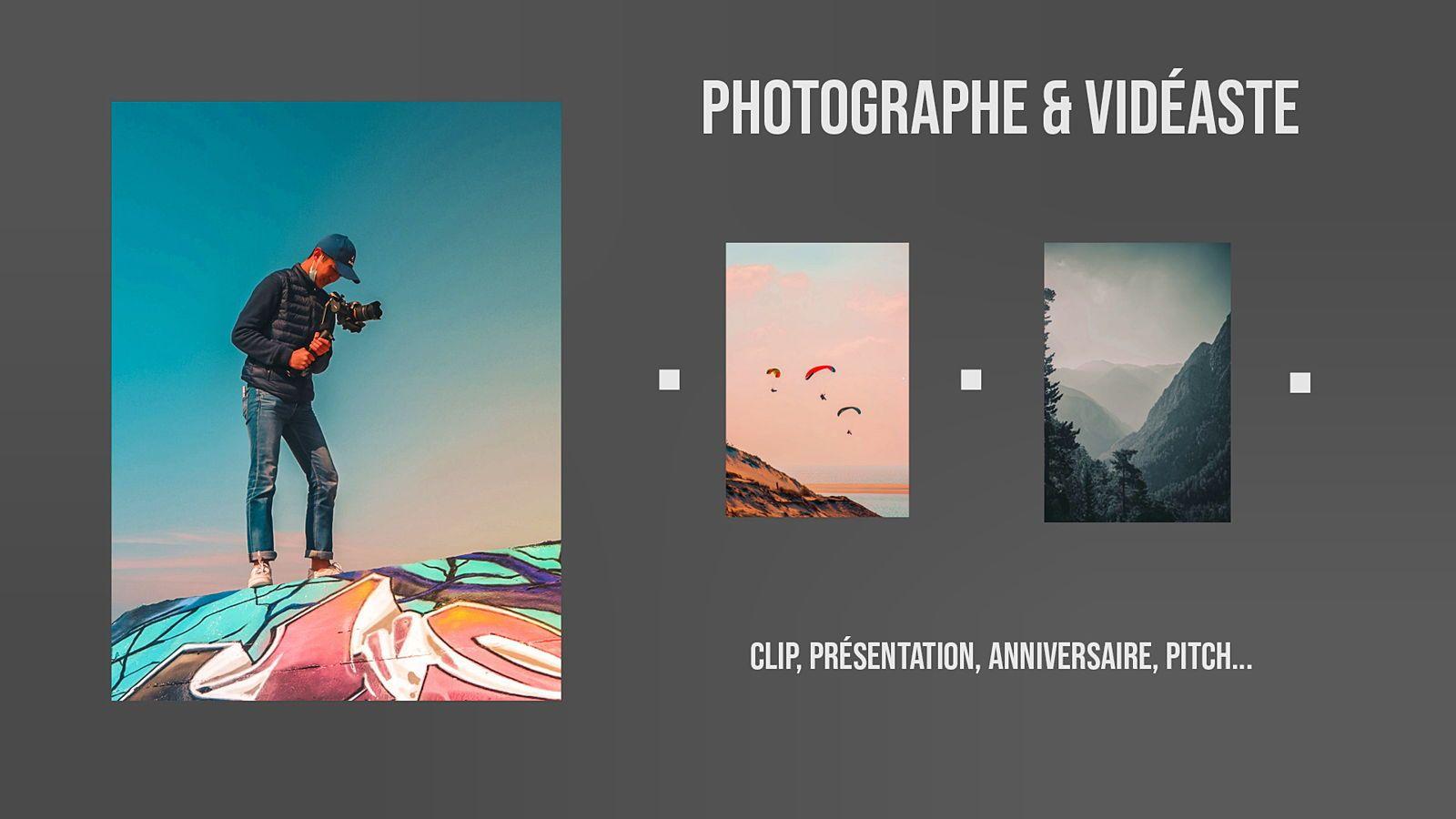 Propose services pour photos, vidéos, montages…