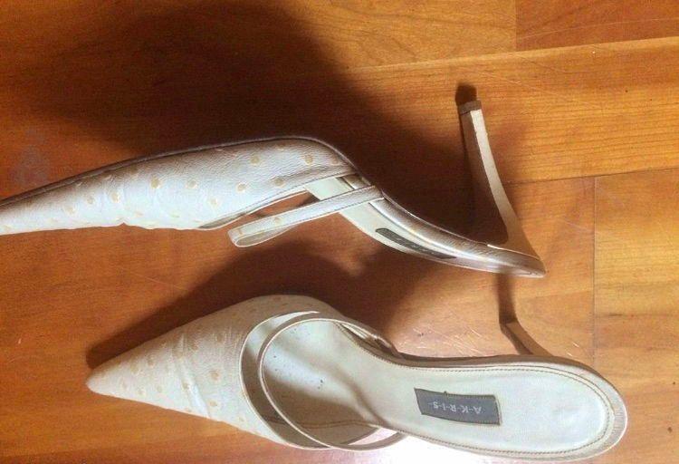 Sandales AKRIS autruche véritable - Pointure 39