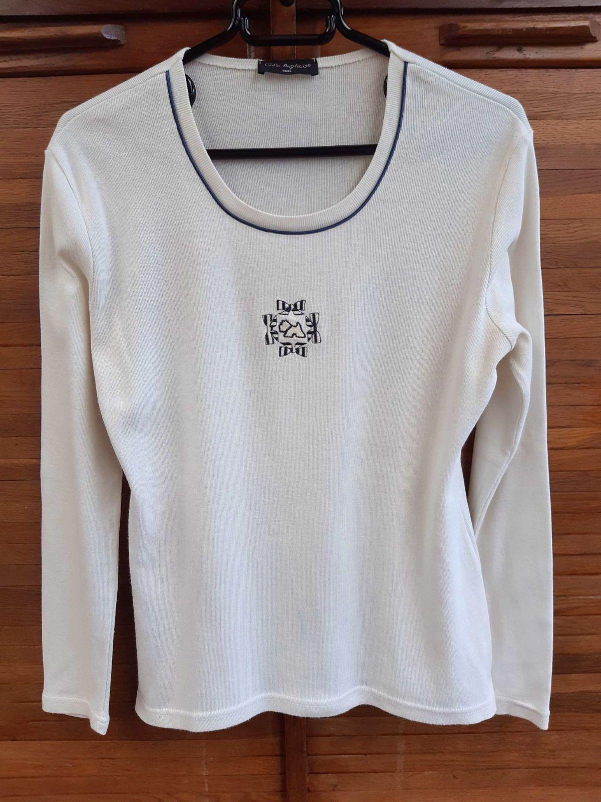 """Tee-shirt """"Côte anglaise"""" taille 42/44blanc cassé très bon état"""