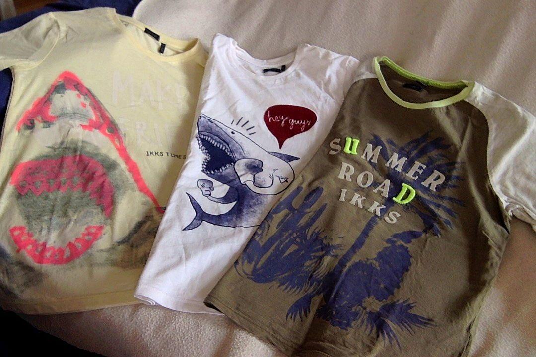 Vends IKKS 3t-shirts garçon 12ans