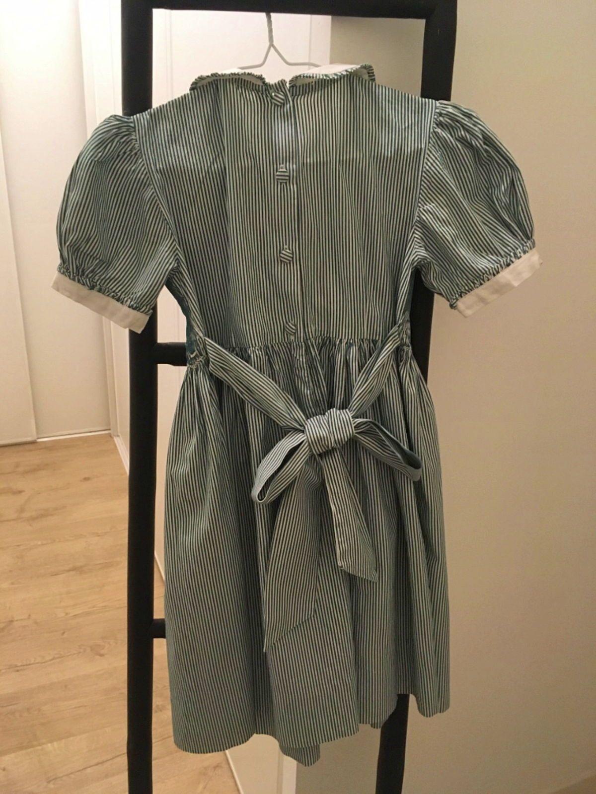 Robe à smocks Vanille- Acajou. 6ans
